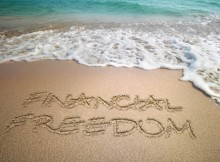financial freedom beach sea sky sand